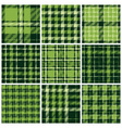 Set of plaid seamless patterns vector image