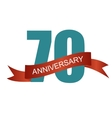 Seventy 70 Years Anniversary Label Sign for your vector image vector image