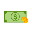 simple bitcoin investment money graphic vector image
