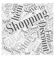 SM save money while shopping Word Cloud Concept vector image vector image