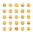 smiley flat icons set 10 vector image vector image
