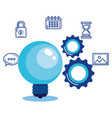 social media marketing set icons vector image vector image