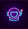spaceman neon label vector image vector image