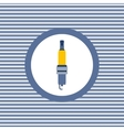 Spark-plug color flat icon vector image