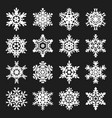 stock snowflakes set black vector image