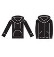 sweatshirt hoodie black concept icon vector image vector image