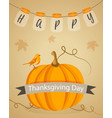 Thanksgiving background with pumpkin and text