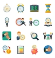 Time Managment Flat Icons Set vector image vector image
