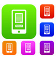 translate application on a smartphone set vector image vector image