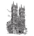 westminster abbey or collegiate church vintage vector image vector image