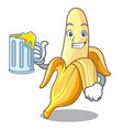 with juice fresh banana fruit mascot cartoon style vector image vector image