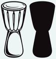 African drum vector image