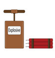 explosive for the mining industry vector image