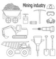 set of for the mining industry vector image