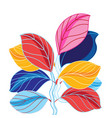 a beautiful colored leaves vector image