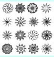 a set of monochrome circular decorative ornaments vector image vector image