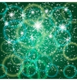 abstract green background with bokeh and particles vector image vector image