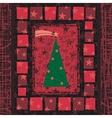 Advent Christmas Tree Greeting Card vector image vector image