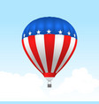 american hot air balloon with stars and stripes vector image vector image