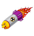 angry missile cartoon character vector image