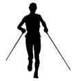 athlete runner running vector image vector image