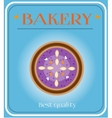 Bakery with plum cake vector image vector image