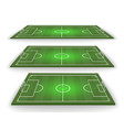ball lies on the grass soccer game vector image vector image