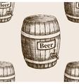barrel beer sketch seamless pattern vector image