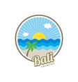 beach time tropical island bali summer vacation vector image vector image