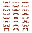Brown moustache or mustache icons set vector image vector image