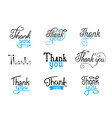 calligraphic lettering script with black blue vector image