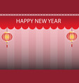 chinese new year greeting card with red pattern vector image