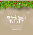 christmas party green background vector image