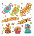 collection sweets vector image vector image