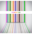 Colorful barcode vector image vector image