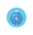 Colorful Icon Blue Ball with Snowflake vector image vector image