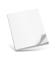 Cover white book with blank vector image vector image