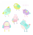 Cute birds set vector image vector image