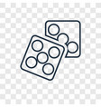 dice concept linear icon isolated on transparent vector image