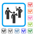 discuss standing persons framed icon vector image vector image