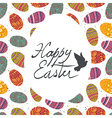 easter greeting retro card vector image vector image