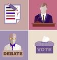 Election Debates vector image vector image