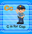 flashcard letter c is for cop vector image vector image