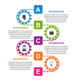 Flat infographic design template with colors gears vector image vector image