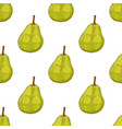 green pear hand drawn colored sketch as seamless vector image vector image