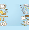 hand drawn baking background vector image vector image