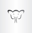 happy elephant head stylized symbol vector image