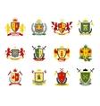 Heraldic Emblems Set vector image vector image