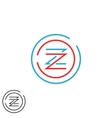 Hipster letter Z logo monogram creative circles vector image vector image