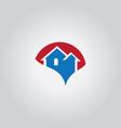 home realty logo vector image vector image